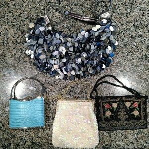 Lot of 4 Vintage Handbags Purses